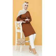 Dress Necklace Tunic Muslim Fashion Women Casual Hijab Seasonal Long-Rubber Polyester