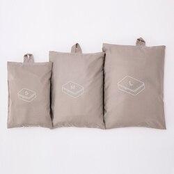 Kit de organizadores para maletas   3 bolsas de tela   1 zapatero de viaje