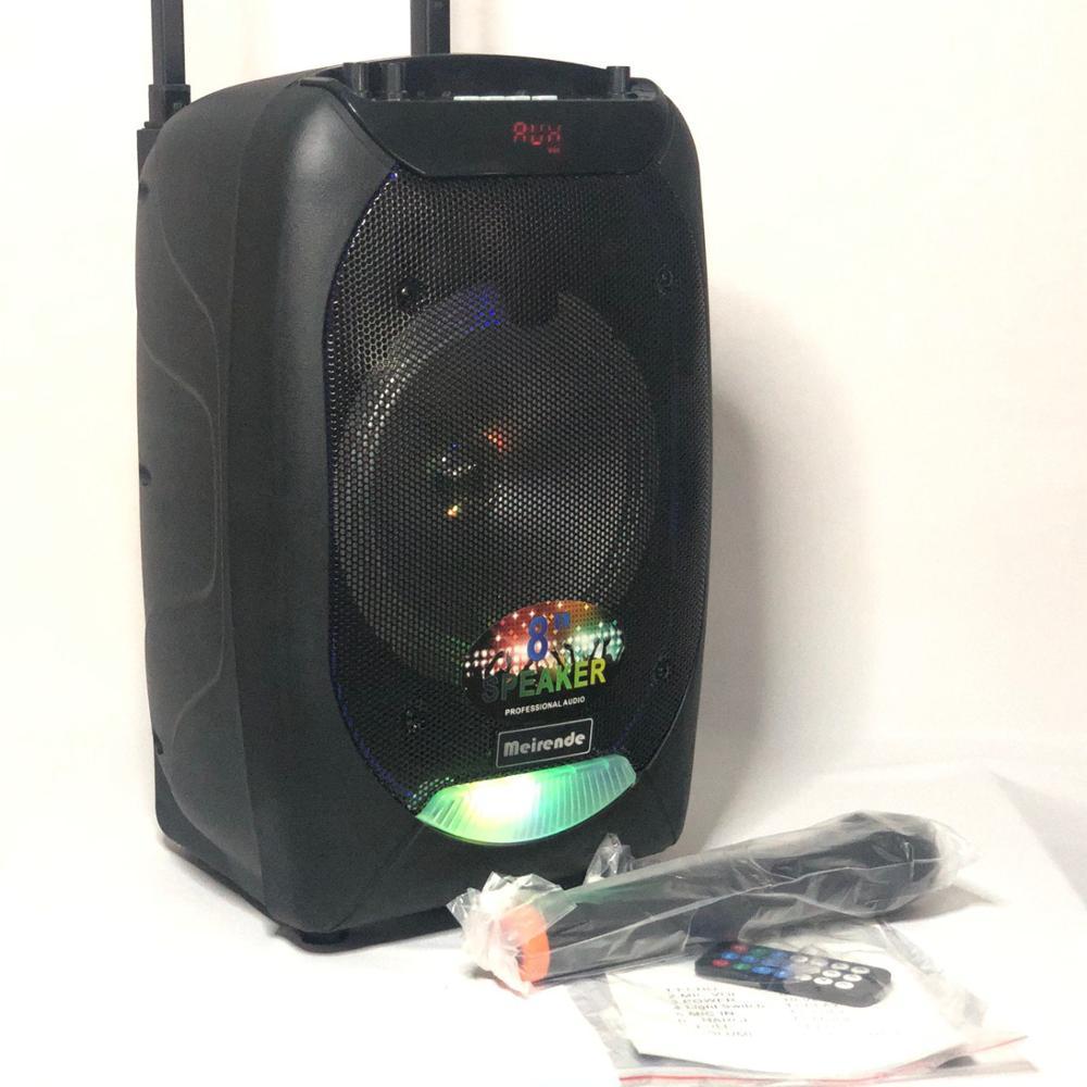 Портативный Динамик Мощный Meirende MR-F8 активная звуковая система профессионального уровня.