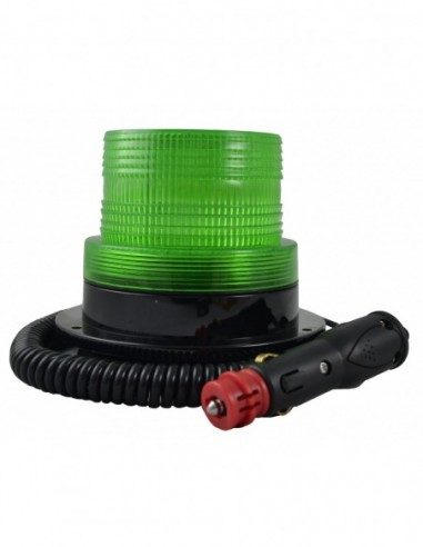 JBM 52946 ROTATING Warning Light FLASHING ROTARY LOW PROFILE-GREEN