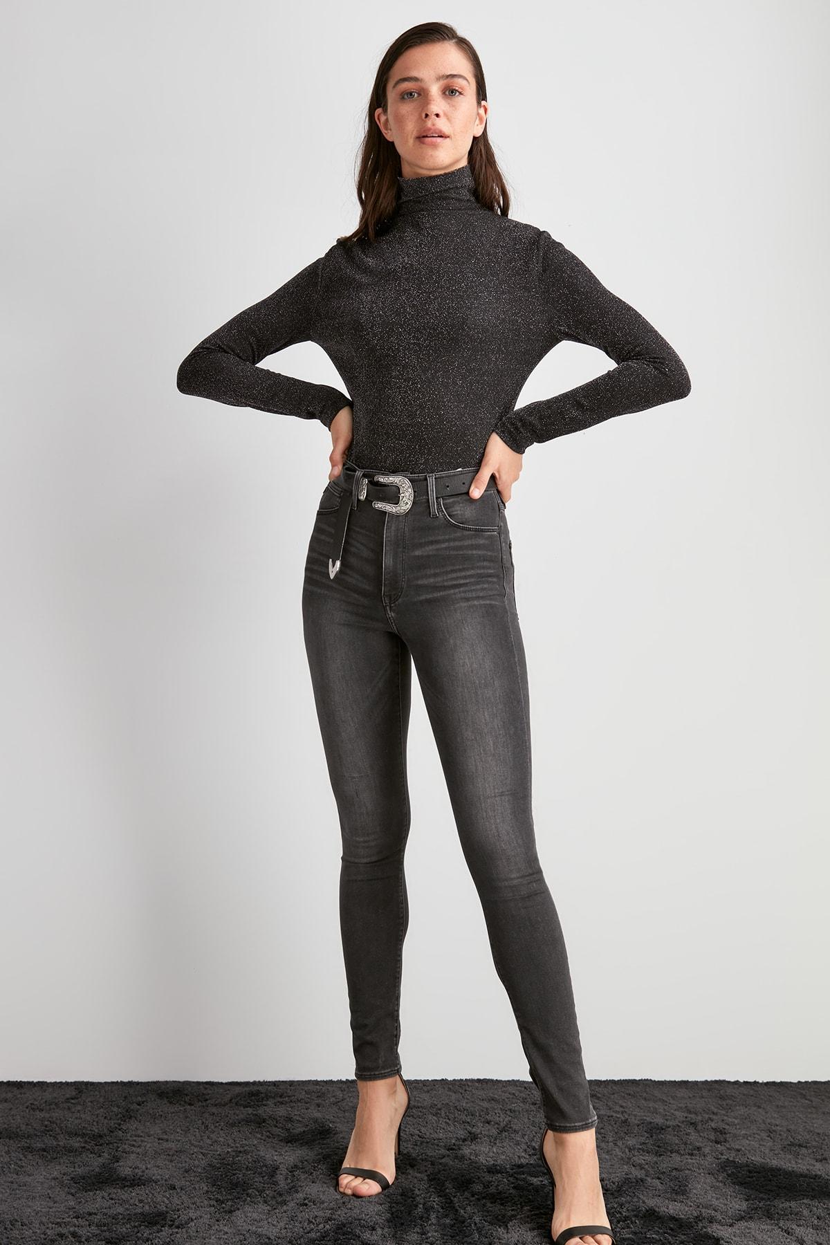 Trendyol High Waist Skinny Jeans TWOAW20JE0425