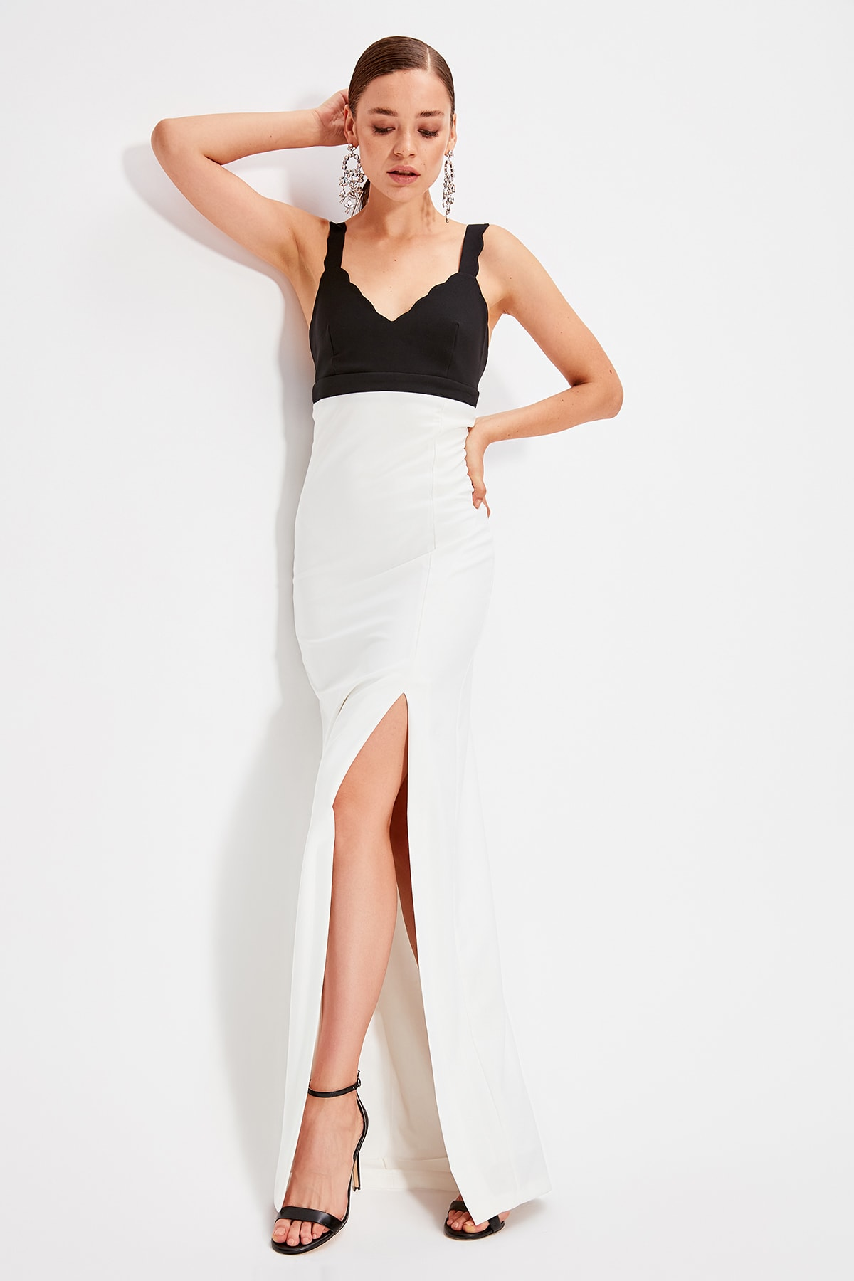 Trendyol With Color Block Evening Dress TPRSS19AE0085