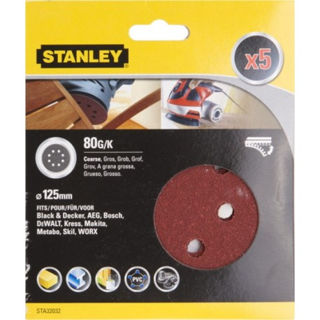 SANDING DISC BROKEN ORBITING CORDLESS ROTARY 125MM GR80 STANLEY 5 PZ