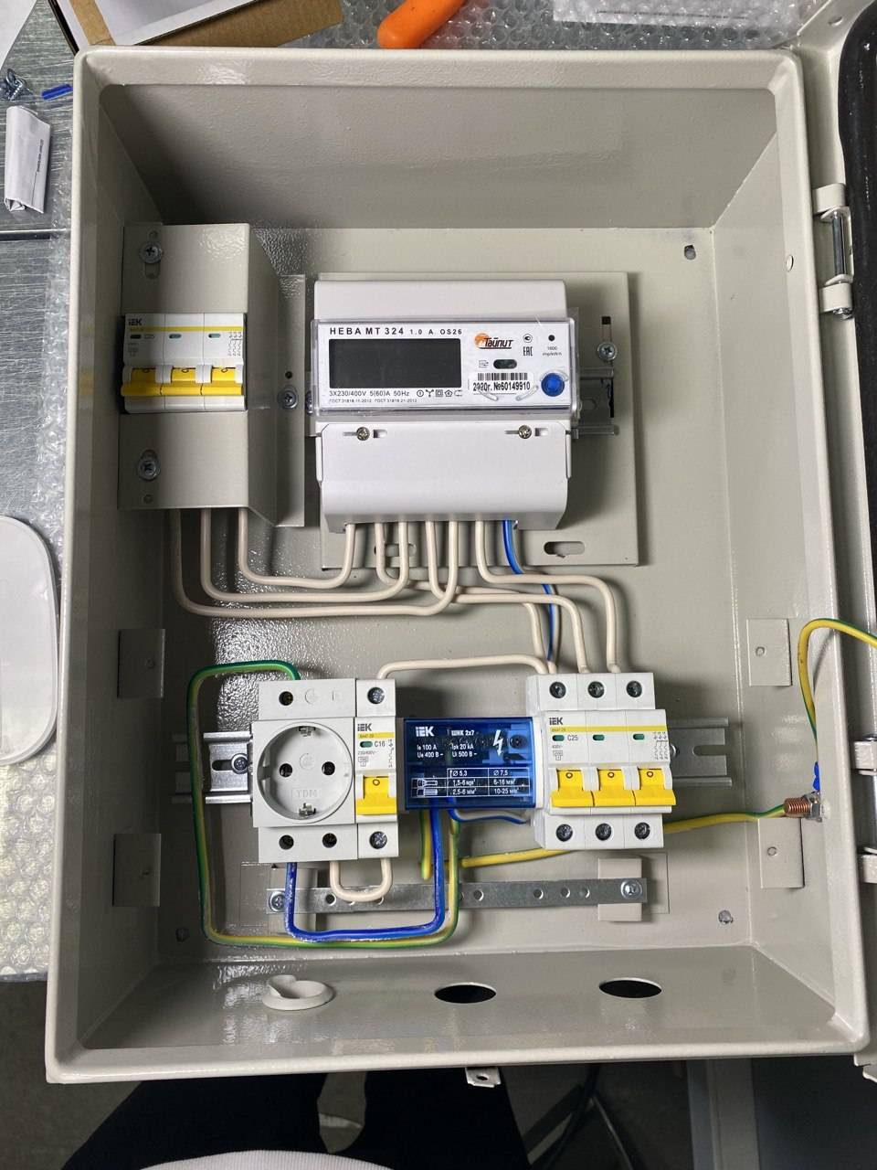 Щит учета 15 КВт 380В 3ф 2т IEK НЕВА|Соединительные коробки для проводов| | АлиЭкспресс