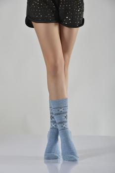 Idilfashion Women Snowflake wzorzyste termiczne gniazdo Stocking-Gray-B-ART051 (pakiet 3 #8217 LÜ) tanie i dobre opinie Lateks COTTON