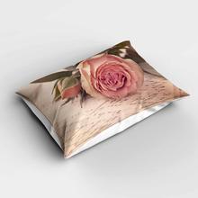 Fundas de almohada modernas rectangulares florales rosas Vintage Beige más fundas de almohada de estampado digital 3d fundas para sofá cama