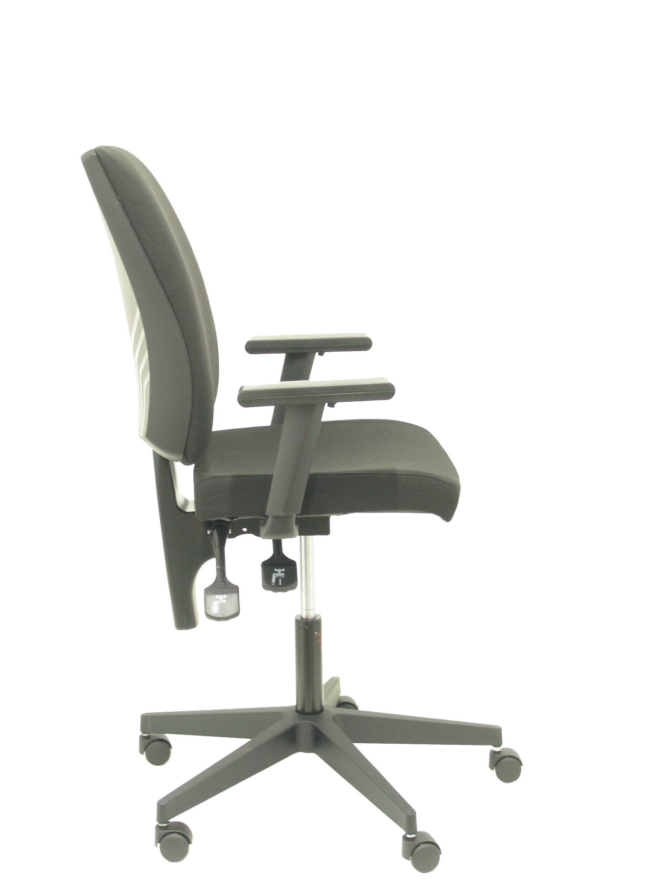 Ergonomic Office Chair Mechanism's Constant Contact Double Handle, Arms Dimmable. -Backup And Asie