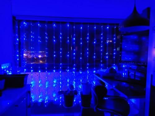 Fios de LED Cachoeira Cortina Sincelo