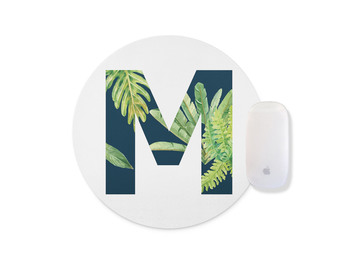 WuW Tropical Theme M Letter Round Non Slip Mouse Pad crocs citilane tropical slip on m