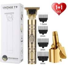 Tondeuse à cheveux Rechargeable T9 pour hommes, rasoir électrique sans fil pour barbier et barbier