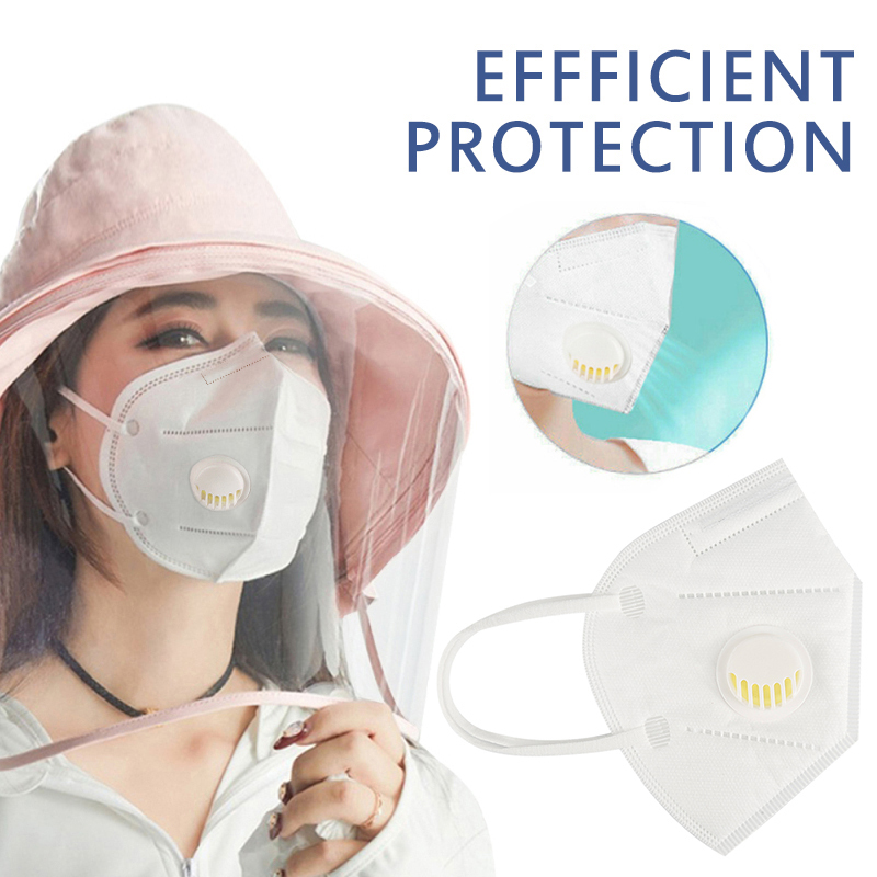 5/10/20PCS KN95 Face Mask Anti Bacteria Dustproof Face Mouth Muffle For Adults With Filter Valves In Stock Dropship TSLM1 2