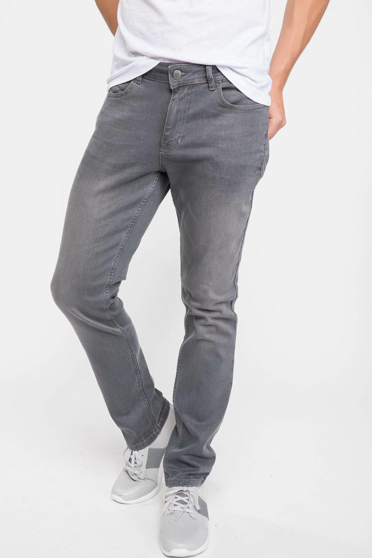 DeFacto Man Autumn Fashion Jeans Trousers For Men's Casual Smoke Gray Long Pants Male Leisure High Quality Pants - J4553AZ18AU