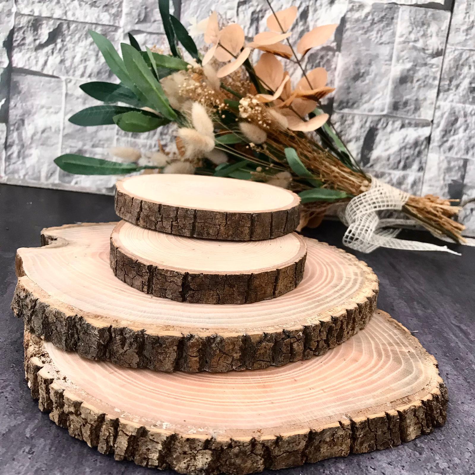 Журнал натуральное дерево круглый срез древесной коры диски торт деревенский деревянный стенд Свадебная вечеринка картины Настенный деко...