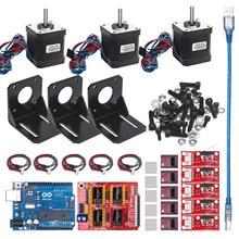 Profesyonel 3d yazıcı CNC kiti + UNO R3 kurulu + RAMPS 1.4 mekanik anahtarı Endstop + DRV8825 Motor sürücü + nema 17 motor