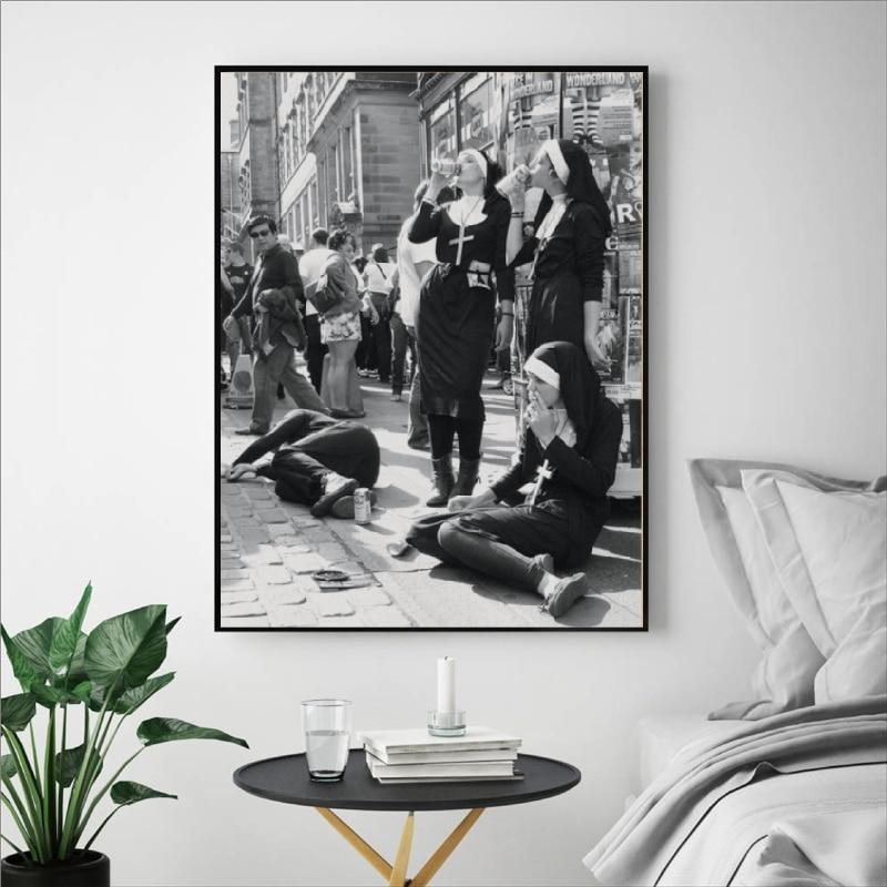 Rebellious Nuns Print Home Wall Decor