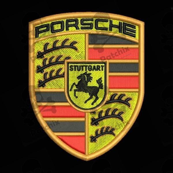 PORSCHE Iron Patch Toppa Ricamata Gestickter Patch Brode Remendo Bordado Parche Bordado