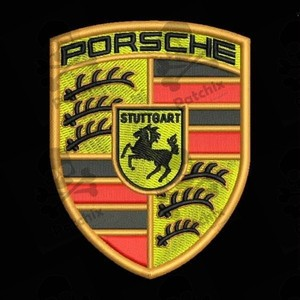 PORSCHE Iron patch Toppa ricamata gestickter patch brode remendo bordado parche bordado