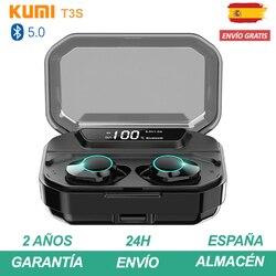 KUMI T3S Auriculares bluetooth inalambrico airpods con micrófono y caja de ładowania Cascos muzyki słuchawki Pinganillo Plaza de España