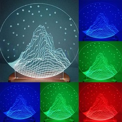N-031 Mountains with stars-3D USB led Eco-friendly lamp night light, hand, table night light, home decor,
