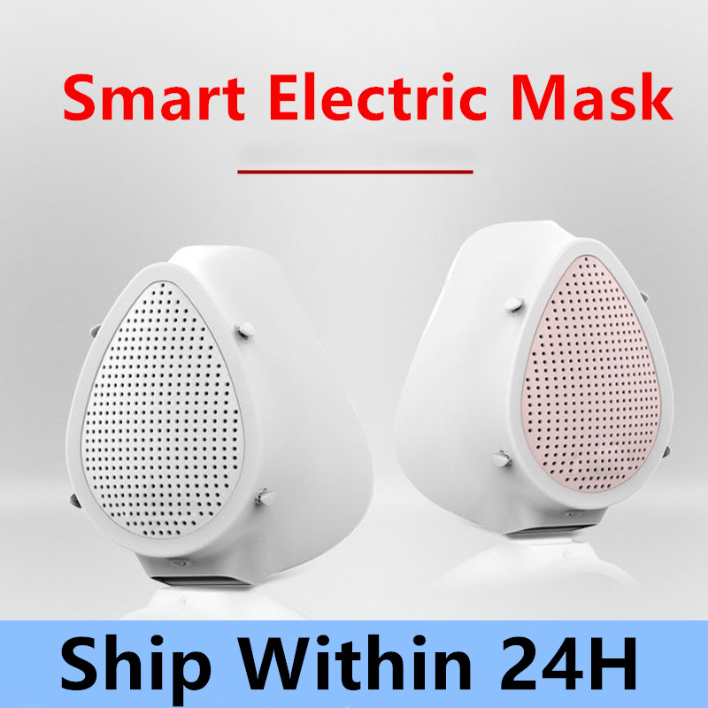 Smart Filter Mask Electric Filter Mask Protective Mask Air Purifier Respirator Reusable Mask Washable Dust Mask In Stock