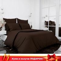 Bedding Set satin модена elegant chocolate, кпб for bedroom, underwear delicatex
