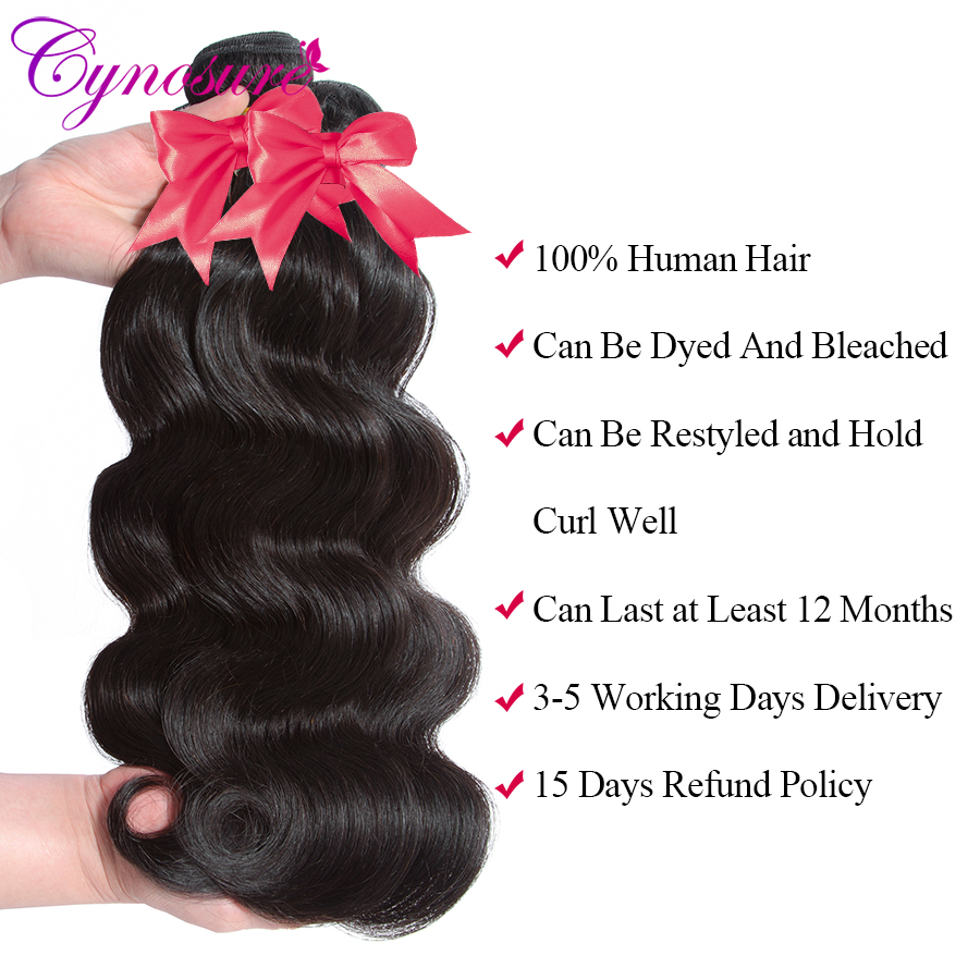 Uc656c3e0184949a08a84a2f231fdf98cM Cynosure Brazilian Hair Weave 3 Bundles With Closure Double Weft Body Wave Human Hair Bundles With Closure Remy Medium Ratio
