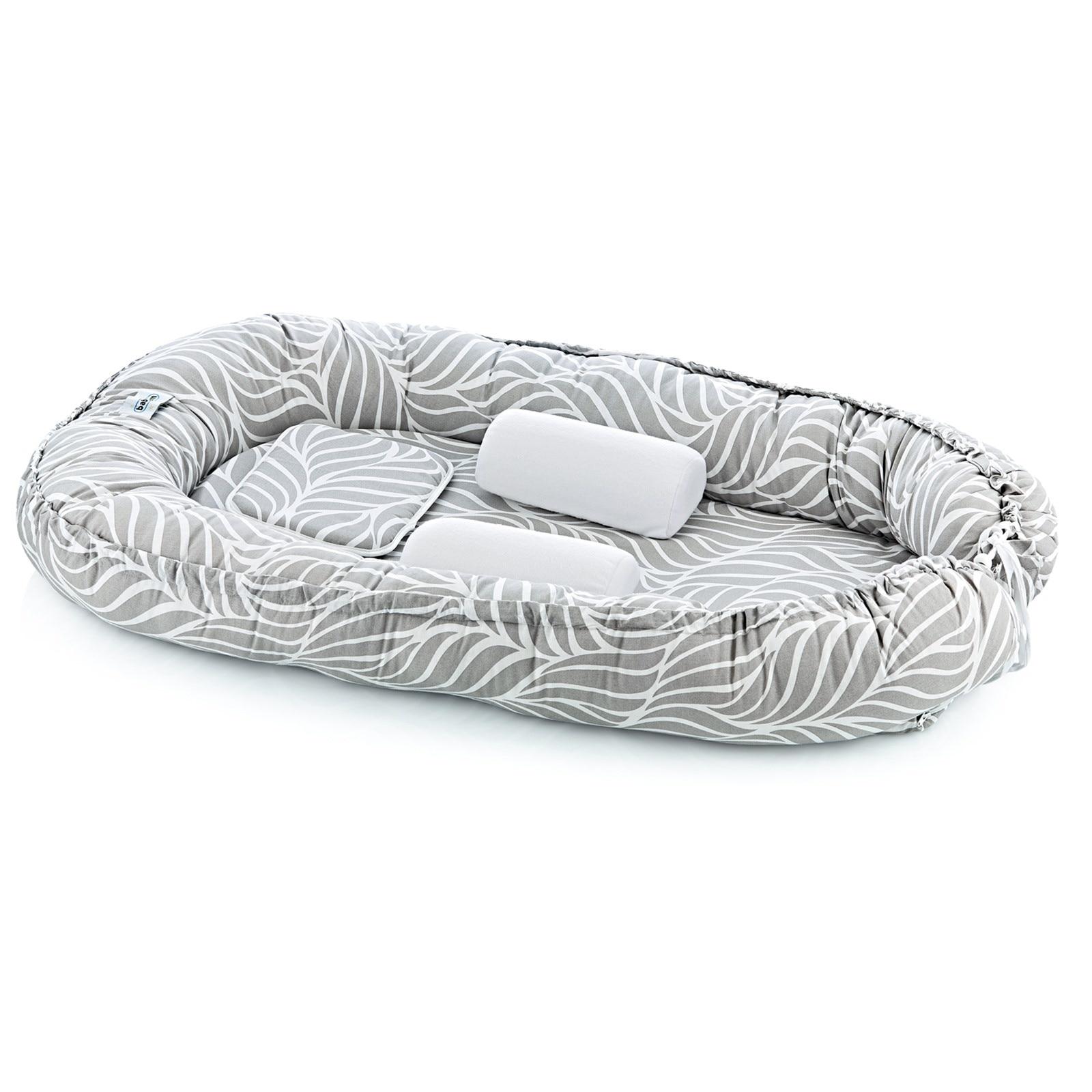 Ebebek Babyjem Mom & Dad Side Baby Bed Gray