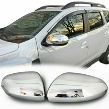 Chrome rear view enclosures for Dacia Duster II since 2018 stainless steel