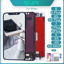 Pantalla táctil LCD para iPhone X XS MAX 6 6Plus 6S 6S Plus 7 7Plus 8 8Plus, piezas de montaje de digitalizador