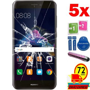 5x Protectors Screen Tempered Glass for for HUAWEI P8 LITE 2017 (Not Full SEE INFO) PEN