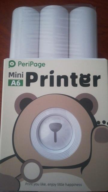GOOJPRT A6 PeriPage Mini Portable Bluetooth Wireless Paper Photo Printer Pocket Thermal Printing USB Connection Impresoras Fotos|Printers|   - AliExpress
