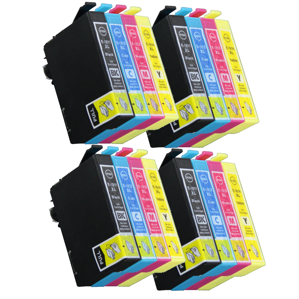 16 ink cartriges T18XL Model T 18XL t1811 t1812 t1813 t1814 Compatible with epson printers XP302 XP305 XP402 XP405