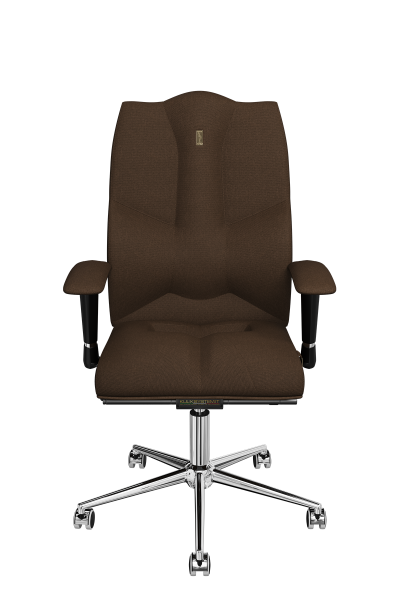 Office Chair KULIK SYSTEM BUSINESS Chocolate Computer Chair Relief And Comfort For The Back 5 Zones Control Spine