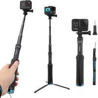 AFAITH Drei Weg Selfie Stick Stativ Erweiterbar Einbein für Gopro Hero 9 8 7 6 5 DJI SJCAM Xiaomi Yi action Kamera Zubehör