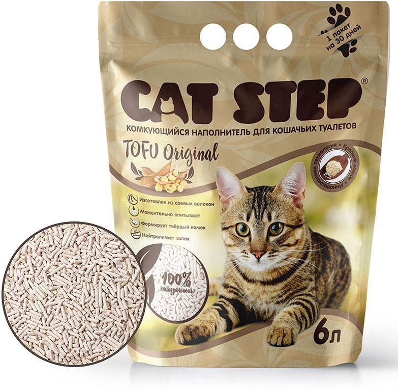 Cat Step Tofu Original наполнитель растительный комкующийся, 6 л.