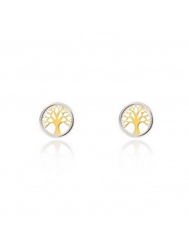 Earrings Tree Of Life with Orla White Gold (9kts)