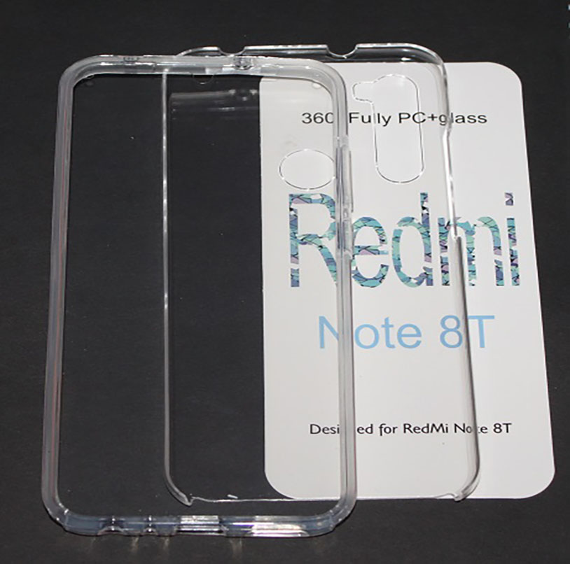 Stand Case Double 360 ° For XIAOMI Note Redmi 8T Front + Back Clear