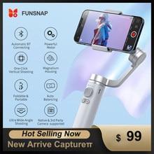 Funsnap Handheld Gimbal Captureπ Moblie Phone Stabilize Stick Foldable Bluetooh Adjustable Selfie Stand For iPhone/Huawei XiaoMI