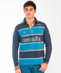 Smooth and stripes sleeved Spagnolo Polo rugby Long Sleeve polos from Spain BRANDED for men