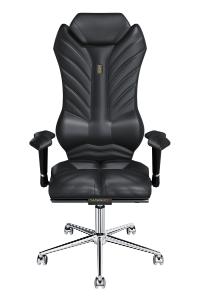Office Chair KULIK SYSTEM MONARCH Black Computer Chair Relief And Comfort For The Back 5 Zones Control Spine