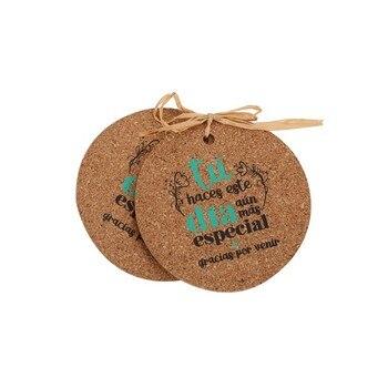 Lote de 20 Set 2 Posavasos Corcho Frases - Detalles de recuerdos y regalos para bodas... comuniones baratos originales invitados