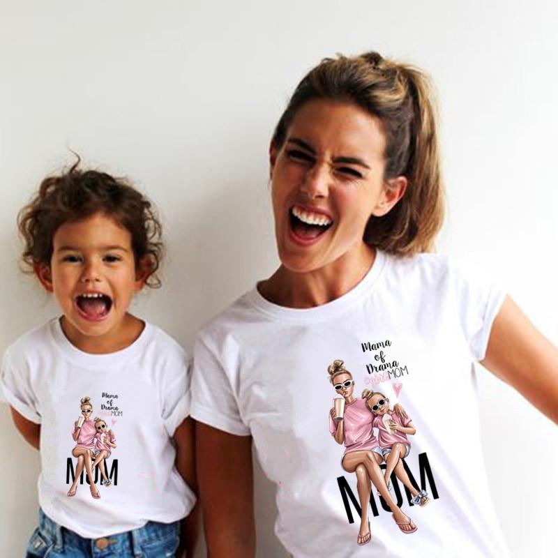 Одинаковые Семейные наряды, футболка с принтом супер мама и дочь для мальчиков и девочек, подарок на день матери, одежда, смешная футболка дл...