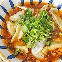 """#美食说出""""新年好""""#酸辣开胃的酸汤水饺,吃一口就爱上的做法图解5"""