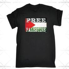 Забавная Мужская футболка модная одежда футболки с флагом Палестины