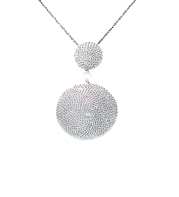 Round Model , Filigree  , Silver ,  Silver Necklace , 925 Sterling 1