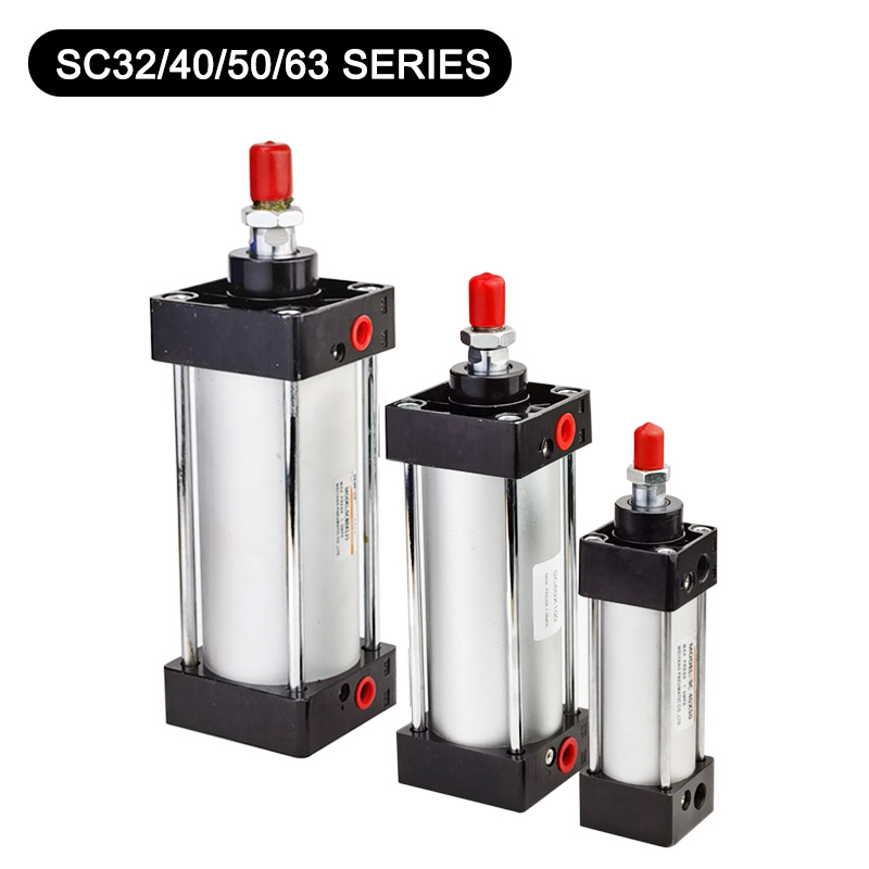 Standard Pneumatic Cylinder SC32/40/50/63mm Stroke 25/50/75/100/200/300/1000mm Air Cylinder Double Acting Pneumatics Pistons