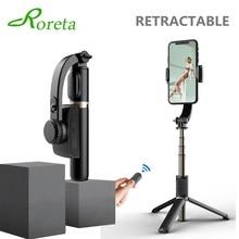 Roreta – stabilisateur de cardan, trépied pour téléphone, balance automatique, bâton de selfie avec télécommande Bluetooth pour Smartphone Gopro caméra