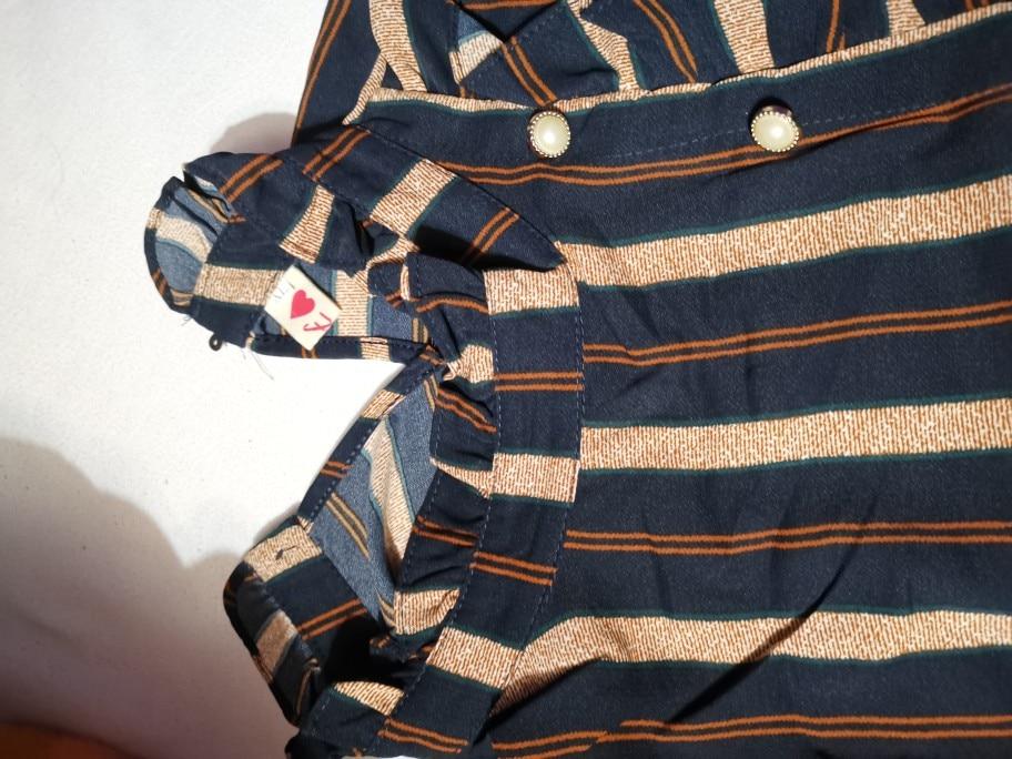 Womens Tops And Blouses Striped Ofiice Wear Blouse Long Sleeve Women Shirts Women Chiffon Blouse Shirt Blusas Femininas photo review