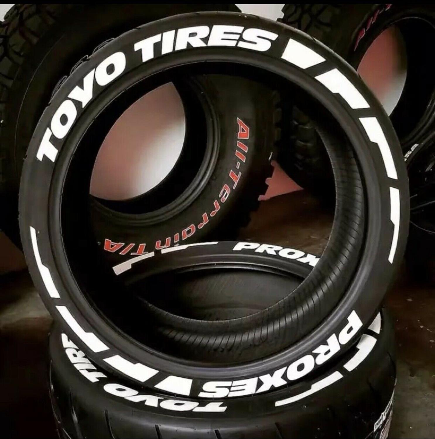 Toyo Tires Proxes Tire Stickers Wheels Label Lettering Decal 3D Fits 14