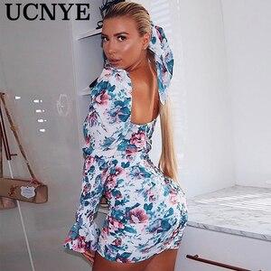Unye 2020 весна новый стиль бохо праздничный сарафан женское облегающее мини-платье с цветочным принтом женские вечерние платья с открытой спи...